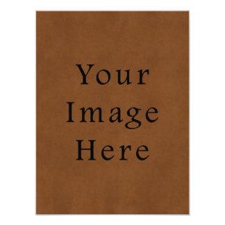 Vintage garvat brunt läderParchmentpapper Foton