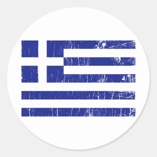 Vintage Grekland Runda Klistermärken