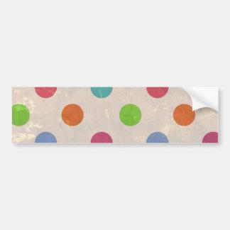 Vintage ha på sig bakgrund med färgrik polka dots bildekaler