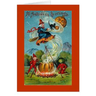 Vintage Halloween Hälsningskort