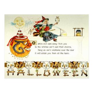 Vintage Halloween Vykort