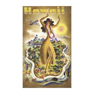 Vintage Hawaii 2 Canvastryck