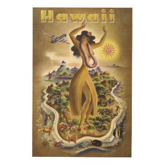 Vintage Hawaii 2 Trätavla