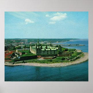 Vintage Helsingor, Kronburg slott, Danmark Poster