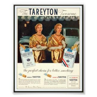 Vintage Herbert Tareyton som annonserar 1955 Foton