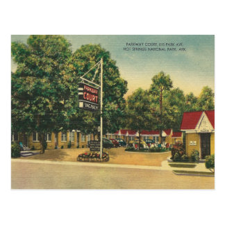 Vintage Hot Springs Arkansas Vykort