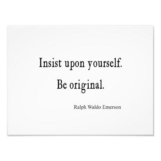 Vintage inspirera Emerson är det original- citatio Fotokonst