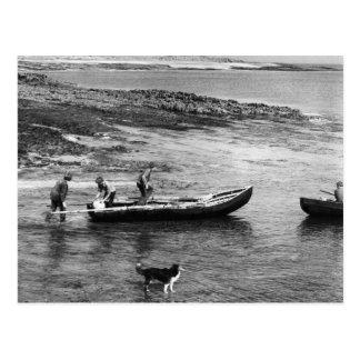 Vintage Irland, Aran ö Currach fartyg Vykort