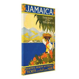 Vintage Jamaica, gemen av tropikernan Canvastryck