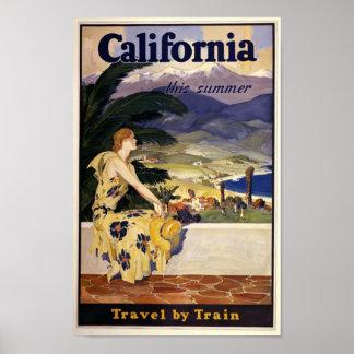 Vintage Kalifornien reser affischen Poster