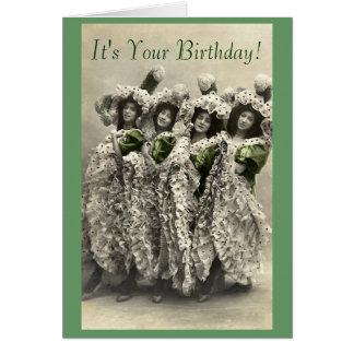 Vintage kan på burk humorfödelsedagkortet hälsningskort