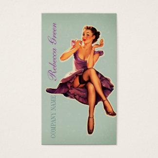 vintage klämmer fast upp konstnär för makeup för visitkort