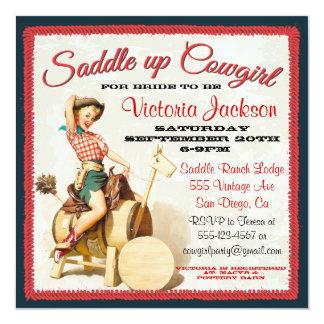 Vintage klämmer fast upp Rockabilly Cowgirlmöhippa Unika Inbjudningar