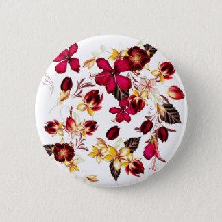 Vintage knäppas med blommor standard knapp rund 5.7 cm