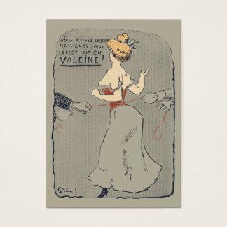 Vintage korsetterat snöra åt visitkort