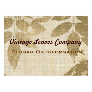 Vintage lämnar visitkortar set av breda visitkort