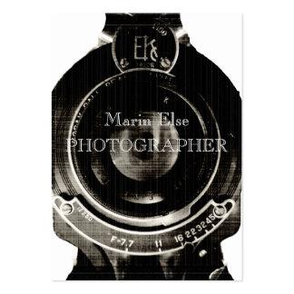 Vintage Lens Visitkort Mallar