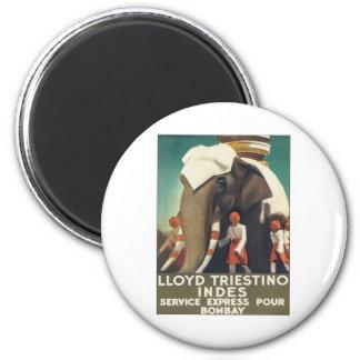 Vintage Lloyd Triestino Indien Magnet