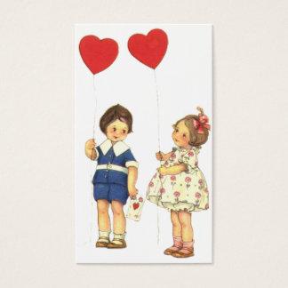 Vintage lurar valentin dagvalentinen visitkort