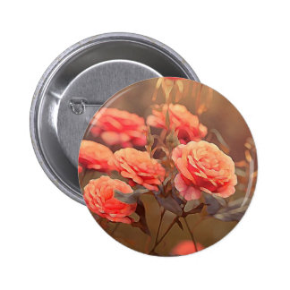 Vintage målade rosa ros knappar