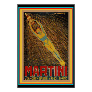 Vintage Martini & Rossi art décoaffisch Poster