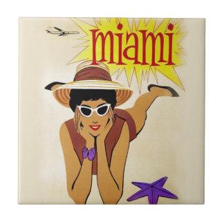 Vintage Miami Beach Kakelplatta