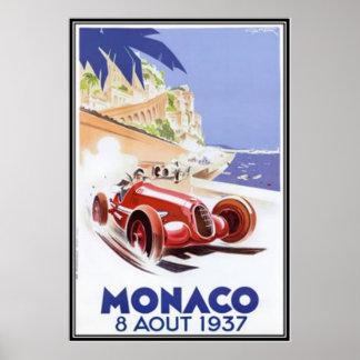 Vintage Monaco - Poster