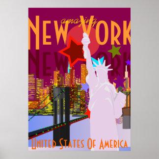 Vintage New York reser Poster