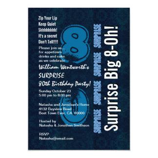Vintage och vit för blått för 12,7 x 17,8 cm inbjudningskort