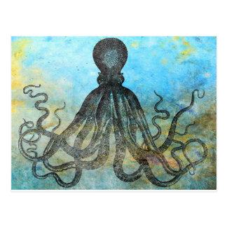 Vintage OctopusCollage Vykort