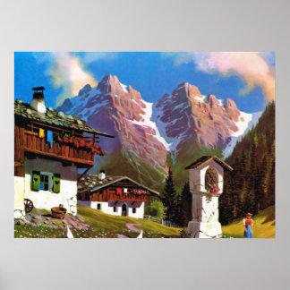 Vintage   Österrike, Bildstock, Tyrolean by Poster