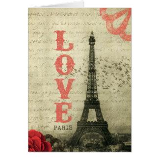 Vintage Paris Hälsningskort