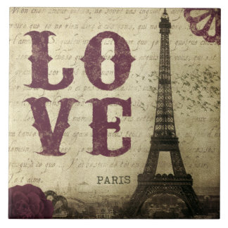 Vintage Paris Kakelplatta