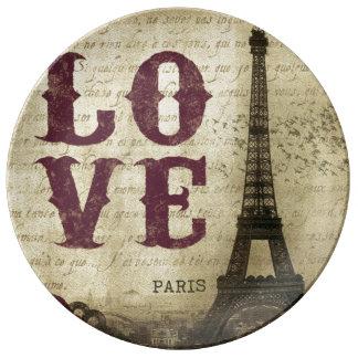 Vintage Paris Porslinstallrik