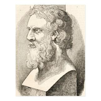Vintage Plato filosofillustrationen Vykort