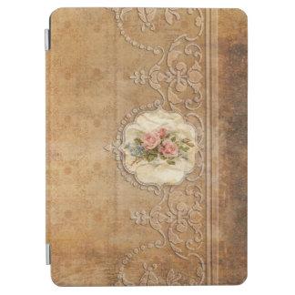 Vintage präglade guld- Scrollwork och ro iPad Air Skydd