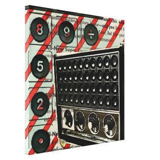 vintage radiosände retro elektronikmode canvastryck
