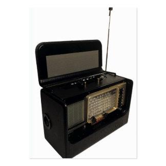 Vintage radiosände set av breda visitkort