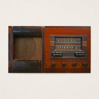 Vintage radiosände visitkort