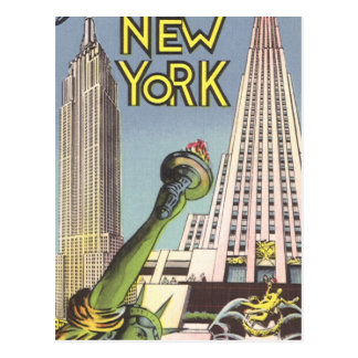 Vintage resor berömda New York City Landmarks Vykort