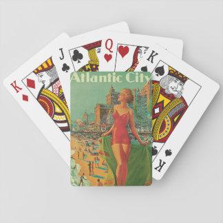 Vintage resor blondin för Atlantic City Kortlek