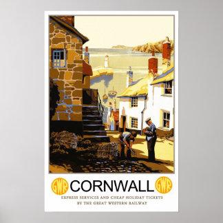 Vintage resor Cornwall Poster