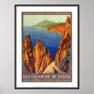 Vintage resor Corsica - Poster