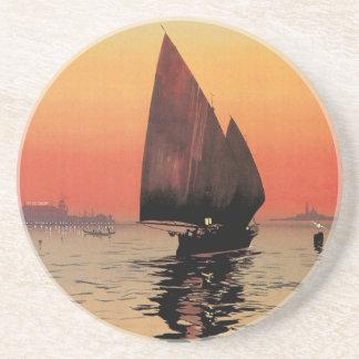 Vintage resor fartyg på Excelsiorslotten Venedig Underlägg