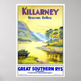 Vintage resor Killarney Poster