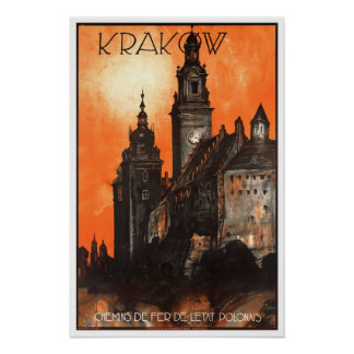 Vintage resor Krakow Poster