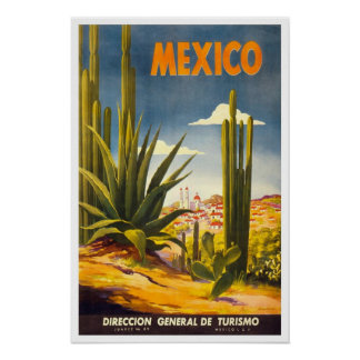 Vintage resor Mexico Poster