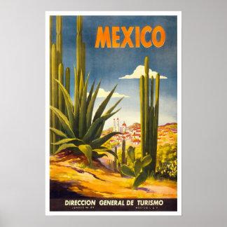 Vintage resor Mexico Poster