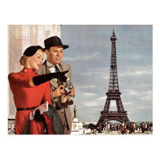 Vintage resor - Retro Paris - Eiffel torn Vykort