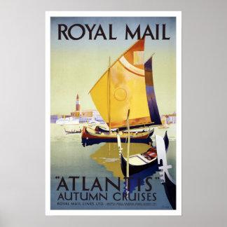 Vintage resor royal postar kryssningar poster